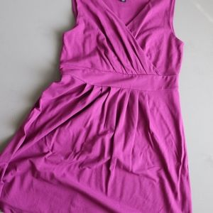 Lands End Fit and Flair Pink Dress - PM 10-12